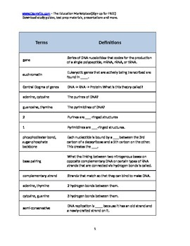 Quick Review Genetics (Handout)