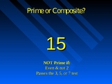 Quick Review of Prime and Composite Numbers PowerPoint