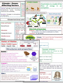 Science Quick Study Guide - {Handy Use for Quick Revision with 4 science Units}