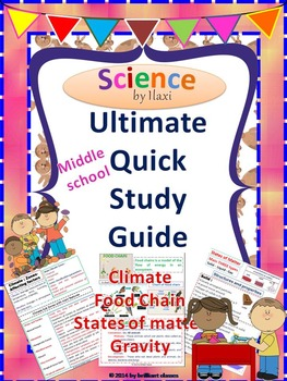 Science Quick Study Guide - {Handy Use for Quick Revision