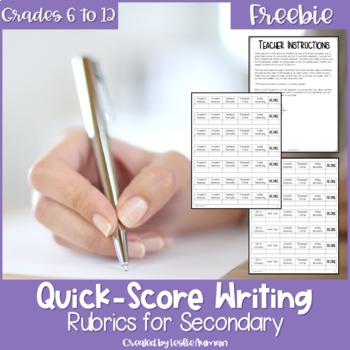Quick Score Writing Rubric