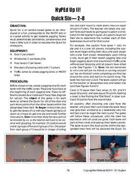 Quick Six Aerobic-Dice Physical Education Game to Reinforce Pacing