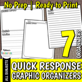 Quick Response Pages: Quick Write & Quick Draw Printables