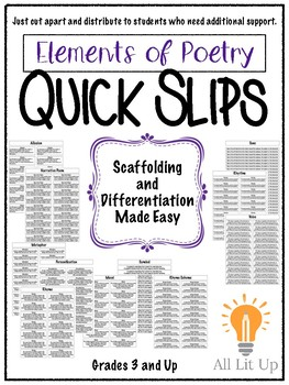 Quick Slips: Elements of Poetry