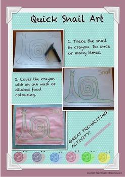 Quick Snail Art Activity pre-school or Kindergarten