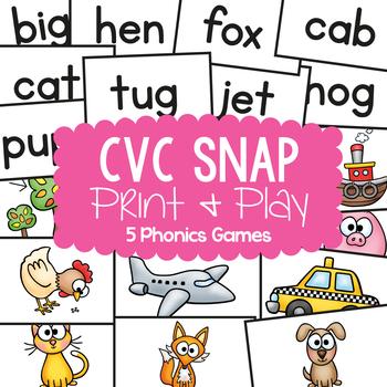 cvc Words - Quick Snap MEGA PACK {Games / Center Activities}