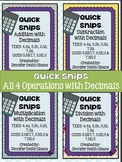 Quick Snips- All Operations with Decimals Bundle
