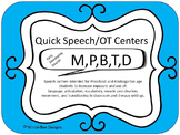 Quick Speech/OT Centers (RtI, Phonics, Articulation, thera