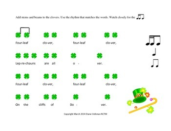 Quick St. Patrick's Day Composition Activity Common Core