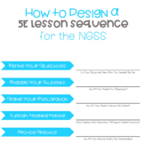 Quick Start Guide: How To Create a 5E Lesson Sequence For The NGSS