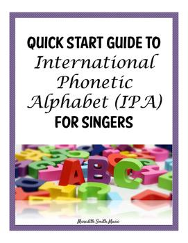 Quick Start Guide to International Phonetic Alphabet (IPA)