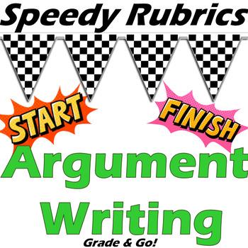 Quick & Student Friendly Essay Rubric - Argument Writing (Holistic - BIG 4)