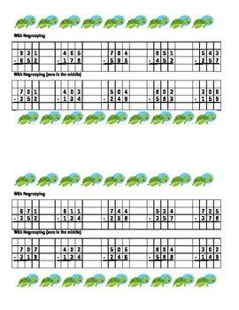 Quick Summative 3rd Grade Subtraction Assessment DUO