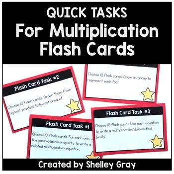 Quick Tasks for Multiplication Flash Cards | Flash Card Task Cards