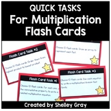 Quick Tasks for Multiplication Flash Cards | Flash Card Ta