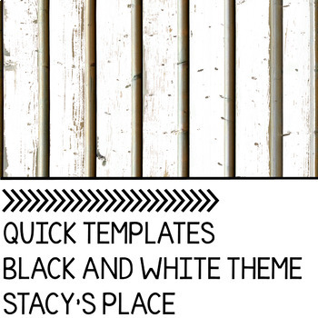Quick PowerPoint Templates: Black and White
