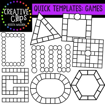 Quick Templates: GAME Bundle {Creative Clips Digital Clipart}