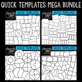 Quick Templates Mega Bundle {Creative Clips Digital Clipart}