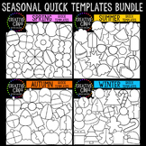 Quick Templates: SEASONAL Bundle {Creative Clips Digital Clipart}