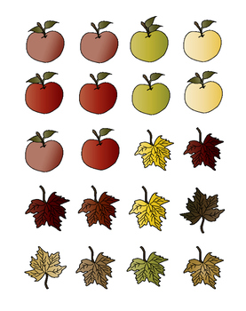 Quick Ten Apples and Leaves