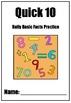 Quick Ten Basic Facts Program