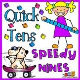 Quick Tens Speedy Nines--Addition Math Center