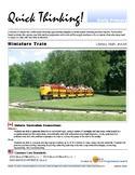 Quick Thinking - Miniature Trains
