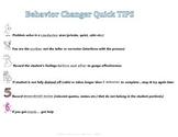 Quick Tips for Behavior Changer