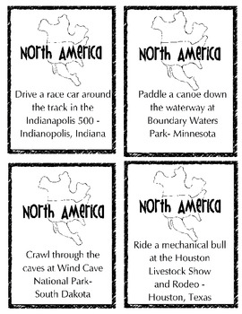 Quick Trip -North American Exercise Cards Starter