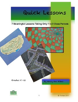 Quick Visual Arts Lessons K to 12th Grade