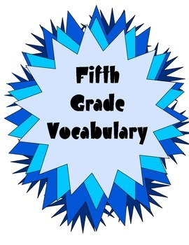 Quick Vocabulary Weekly Tests Posters for Fifth Grade