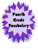 Quick Vocabulary Weekly Tests with Posters for Fourth Grade BTS SALE