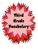 Quick Vocabulary Weekly Tests with Posters for Third Grade