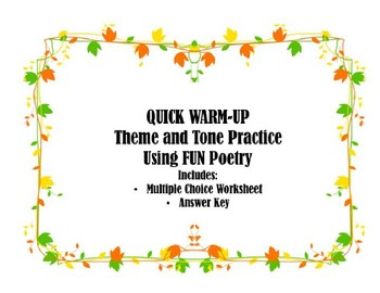 Quick Warm-Up: Theme and Tone Practice