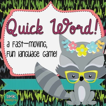 Quick Word Vocabulary Card Game