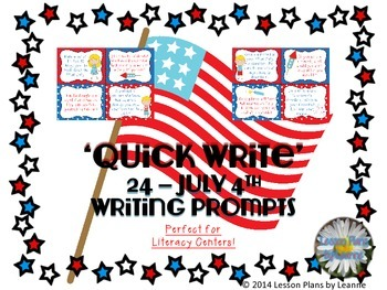 'Quick Write' 24 - July 4th Writing Prompts
