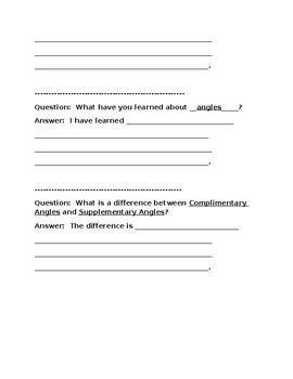 Quick Write: Angles