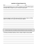 Chemistry Literacy: Quick Write on Chemical Physical Changes and Properties