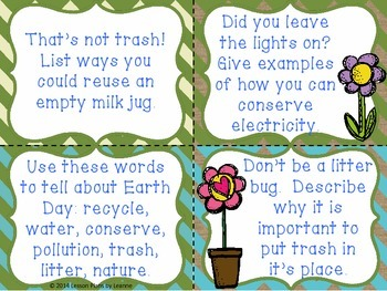 'Quick Write' Earth Day Writing Prompts