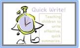 Quick Write Form