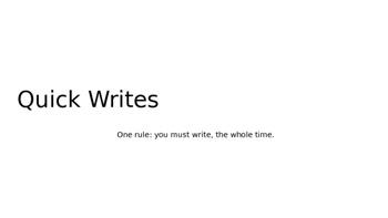Narrative Quick Write Images Powerpoint Grades 2-6