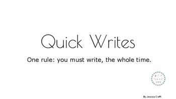 Quick Write Narrative Picture Prompts Grade 1-8