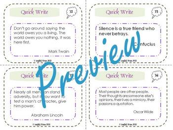 Quick Write Quotations Set 1
