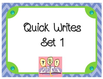 Quick Write Quotations Set 1