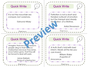 Quick Write Quotations Set 1 (Sample)