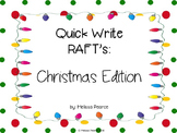 Quick Write Rafts: Christmas Edition