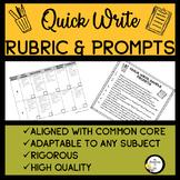 Quick Write Rubric & Prompt