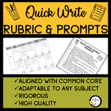 ESL Writing Activities: Quick Write Rubric & Prompt