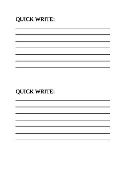Quick Write Slip