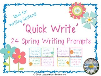 'Quick Write' Spring Writing Prompts